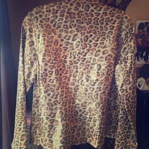 Chico's Leopard Print Jacket